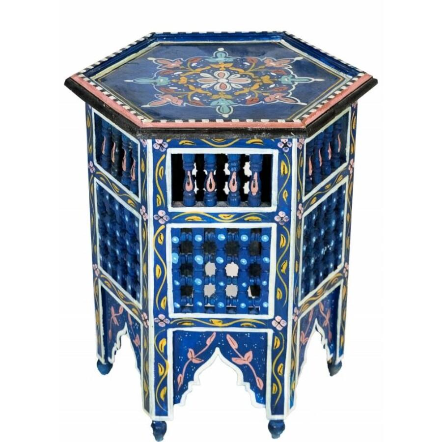 Bidhan kék marokkói asztal