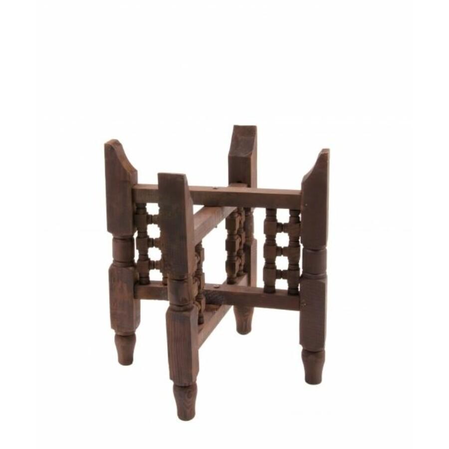 Fa asztal tálcához