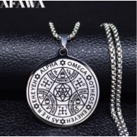 Mágikus amulett nemesacél nyaklánc