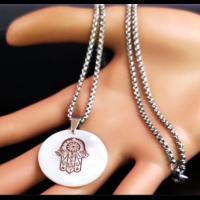 Fatima keze nemesacél nyaklánc I