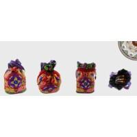 Indiai hímzett táska lila