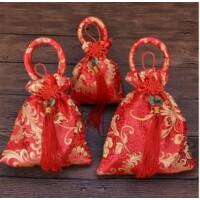 Tibeti hímzett selyem szütyő kicsi
