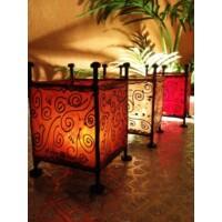 Budu marokkói asztali henna gyertya és mécsestartó