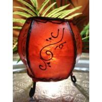 Hessa gömbölyű henna asztali gyertya és mécsestartó