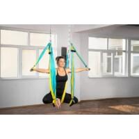 Antigravitációs jóga függőágy színjátszó kék-sárga színű 4 méteres