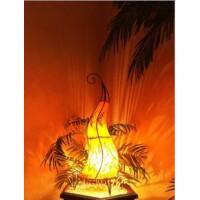 Almina marokkói henna állólámpa narancs 71 cm