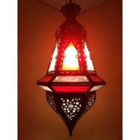 Anya marokkói mennyezeti lámpa piros