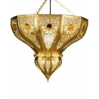 Cal marokkói mennyezeti lámpa arany