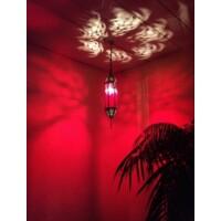 Fida marokkói mennyezeti lámpa piros