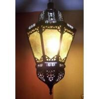 Moulay  marokkói mennyezeti lámpa sárga