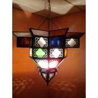 Noha marokkói mennyezeti lámpa színes