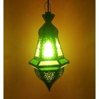 Anya marokkói mennyezeti lámpa zöld
