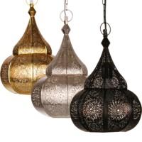 Ilham marokkói mennyezeti lámpa ezüst