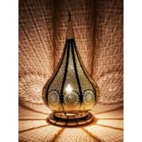 Kais marokkói asztali lámpa ezüst színű