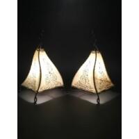 Rahaf marokkói henna asztali lámpa natúr 35 cm