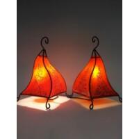 Rahaf marokkói henna asztali állólámpa narancs 35 cm