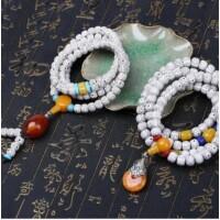 Sárga medálos tibeti buddhista mala 108 szemes