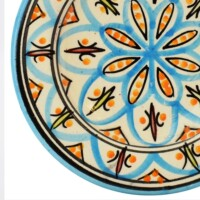 Amin marokkói kerámia tányér