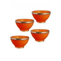 Cariba marokkói kerámia tányér narancssárga