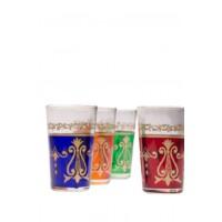 Arab marokkói tea pohár többszínű