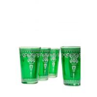 Andalous marokkói tea pohár zöld