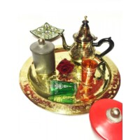 Bakir marokkói teakiöntő fekete/arany  800 ml