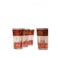 Lamia marokkói tea pohár piros