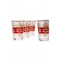 Marrakesch marokkói tea pohár piros