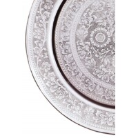 Afaf ezüst marokkói tálca 40 cm