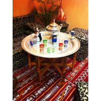 Amana ezüst marokkói tálca 80 cm