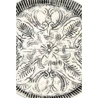 Animata fehér-fekete kicsi antik marokkói tálca 41 cm