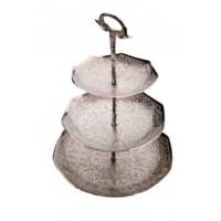 Berksu 3 részes ezüst marokkói  tálca 34 cm