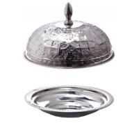 Fassia ezüst marokkói tálca 26 cm