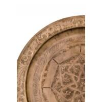 Mehdia antik marokkói tálca 40 cm