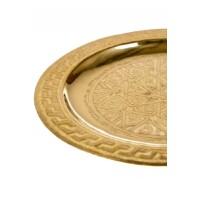 Mehdia arany marokkói tálca 25 cm