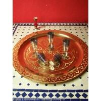 Mehdia arany marokkói tálca 60 cm