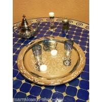 Mehdia ezüst marokkói tálca 40 cm