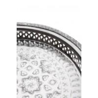 Nadia ezüst marokkói tálca 27 cm