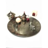 Suad ezüst marokkói tálca 51 cm