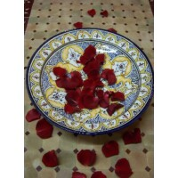 Amber marokkói kerámia tányér
