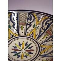 Amsah marokkói kerámia tányér