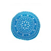 Jabran keleti textil puff ülőpárna kék