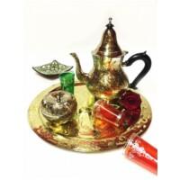 Daftan marokkói teázási kellék tartó tál