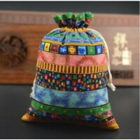 Tibeti mintás szütyő