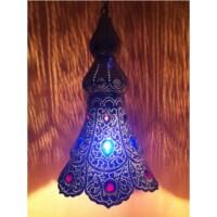 Ilgin indiai mennyezeti lámpa ezüst
