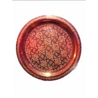 Iman antik keleti teázó asztal réz színben