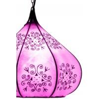 Kabir marokkói henna mennyezeti lámpa lila