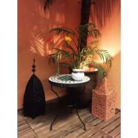Marrakeshi mozaik asztal zöld/fehér