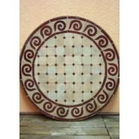 Marrakeshi Spiral mozaik asztal natúr/bordó