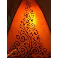 Rahaf marokkói henna állólámpa narancs 50cm